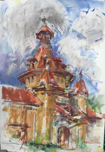 Baile Govora Roemenië, (40×30)cm water mixable oil colors