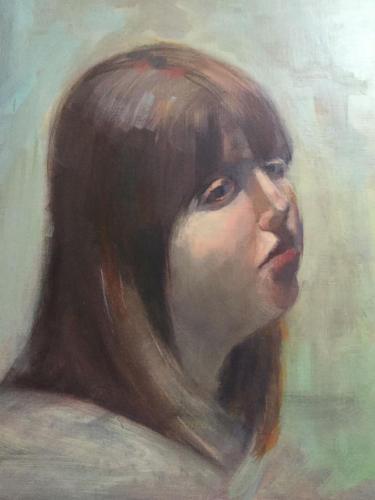 Vriendin van Trix van Dalen (40x30)cm olieverf