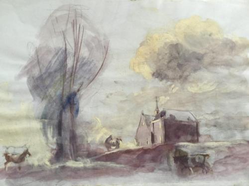 Pastorie I, Hellouw (28×21)cm aquarel