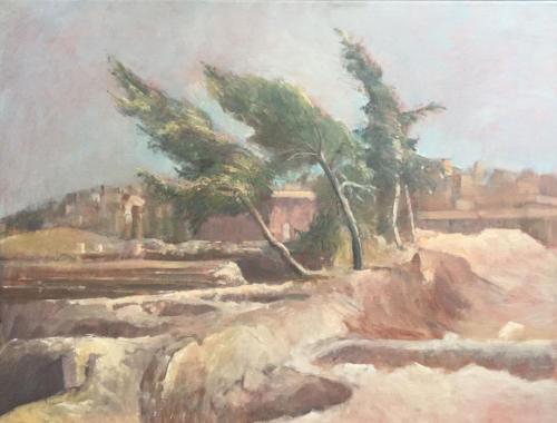 Acrópolis de Ammán ± (70×50)cm olieverf