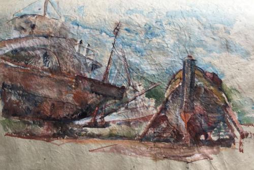 Astilleros II, Tigre, Provincia de Buenos Aires                             (45,5x31)cm aquarel op ruwpapier