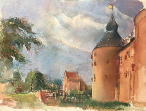 Entre Muros b.b. (36×26)cm aquarel/ pastel
