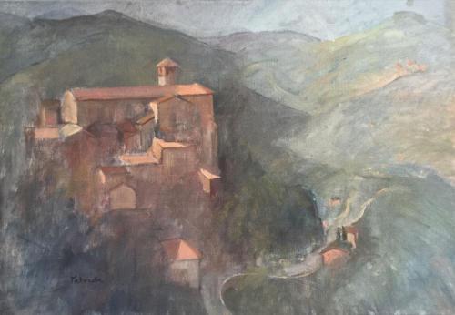 Zicht vanuit Perugia, ±(50×40) olieverf