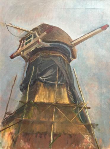 Molen van Waardenburg (62×49)cm olieverf