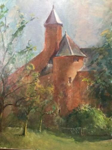 Faust toren (73×51)cm olieverf