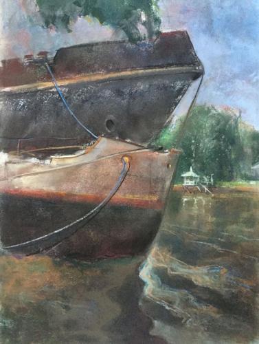Langs een arm van de Luján rivier, Tigre  (70x50)cm pastel