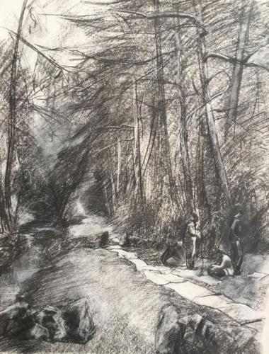 El regalo indefinido (70×50)cm houtskool