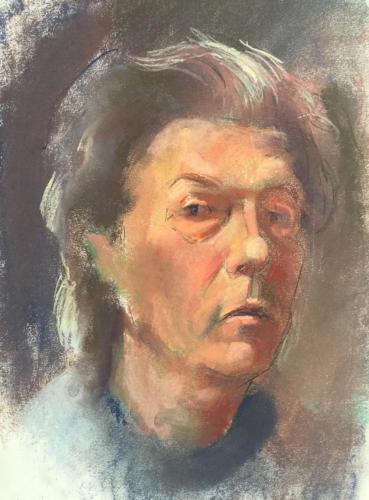 Zelfportret (40x30)cm pastel