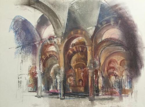 Catedral/Mesquita, Cordoba (70×50)cm pastel