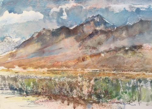 SAN Juan, Argentinië   ± (40x30)cm aquarel