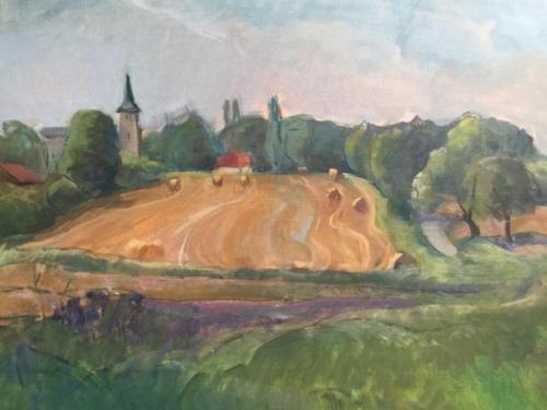 La recolección, Suiza ± (40×30)cm olieverf