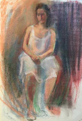 In de Rijksacademie (100×80)cm pastel