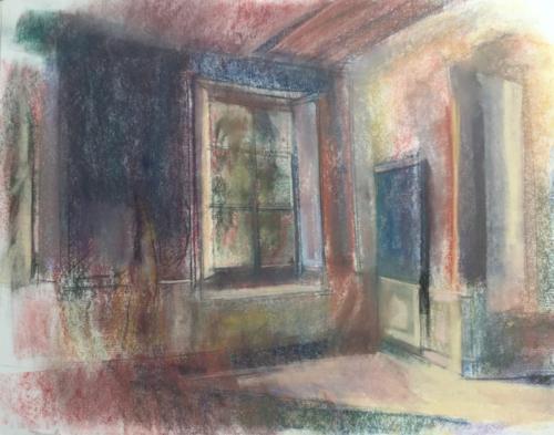 Kamer westvleugel van kasteel Waardenburg ±(70×50)cm pastel