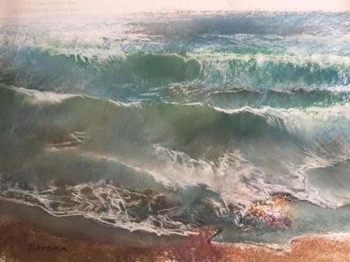 Mar del Plata ± (70x50)cm  pastel
