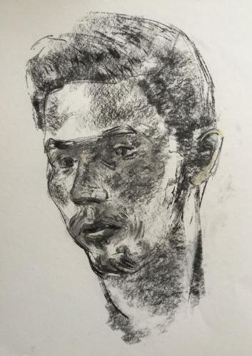 Jordaanse jongeman (70x50)cm houtskool