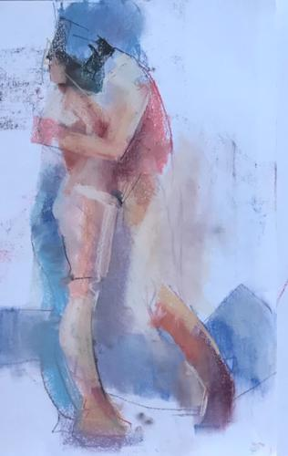 Samen / junto. pastel, (50x35)cm